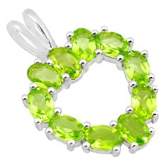 9.56cts natural green peridot 925 sterling silver heart pendant jewelry p83726