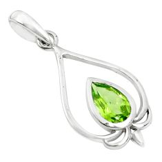 2.23cts natural green peridot 925 sterling silver pendant jewelry p36351