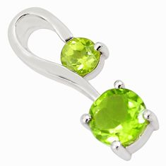 1.76cts natural green peridot 925 sterling silver pendant jewelry p82084