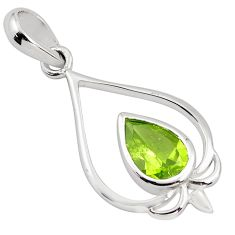 2.44cts natural green peridot 925 sterling silver pendant jewelry p82522