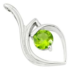2.61cts natural green peridot 925 sterling silver pendant jewelry p83905