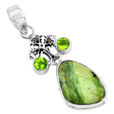 14.72cts natural green swiss imperial opal 925 silver holy cross pendant p55094