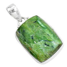 18.15cts natural green swiss imperial opal 925 sterling silver pendant p46141