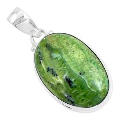 16.18cts natural green swiss imperial opal 925 sterling silver pendant p46145