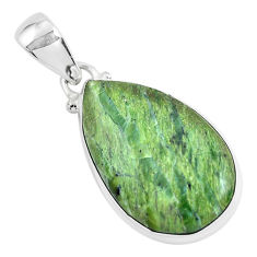 11.73cts natural green swiss imperial opal 925 sterling silver pendant p46151