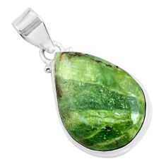 14.72cts natural green swiss imperial opal 925 sterling silver pendant p46156