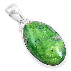 14.23cts natural green swiss imperial opal 925 sterling silver pendant p46159