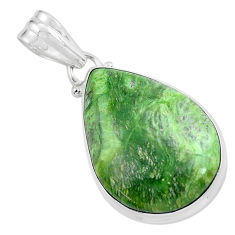 15.65cts natural green swiss imperial opal 925 sterling silver pendant p59623
