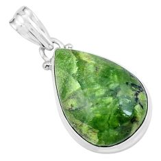 15.65cts natural green swiss imperial opal 925 sterling silver pendant p59626