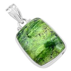 16.62cts natural green swiss imperial opal 925 sterling silver pendant p59628