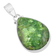15.65cts natural green swiss imperial opal 925 sterling silver pendant p59636