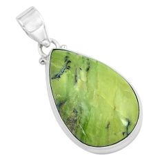 18.68cts natural green swiss imperial opal 925 sterling silver pendant p59638
