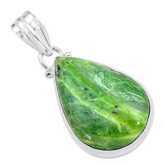 14.72cts natural green swiss imperial opal 925 sterling silver pendant p59639