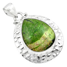 18.15cts natural green swiss imperial opal 925 sterling silver pendant p85461