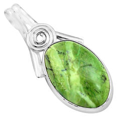 13.15cts natural green swiss imperial opal 925 sterling silver pendant p85568