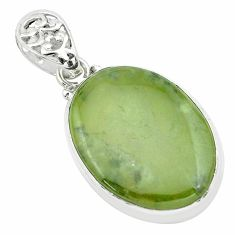 21.48cts natural green vasonite 925 sterling silver pendant jewelry p66242