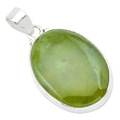 24.38cts natural green vasonite 925 sterling silver pendant jewelry p66246