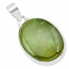 24.38cts natural green vasonite 925 sterling silver pendant jewelry p66251