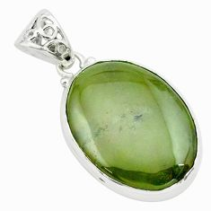 26.16cts natural green vasonite 925 sterling silver pendant jewelry p66253