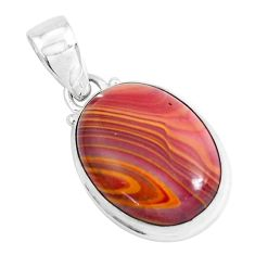 14.72cts natural heckonite rainbow 925 sterling silver pendant jewelry p49353
