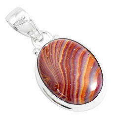 14.23cts natural heckonite rainbow 925 sterling silver pendant jewelry p49360