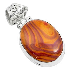 14.72cts natural heckonite rainbow 925 sterling silver pendant jewelry p49367