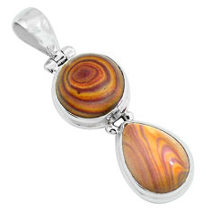 12.36cts natural heckonite rainbow 925 sterling silver pendant jewelry p67649