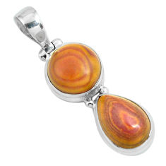 12.85cts natural heckonite rainbow 925 sterling silver pendant jewelry p67654