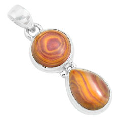 12.85cts natural heckonite rainbow 925 sterling silver pendant jewelry p67660