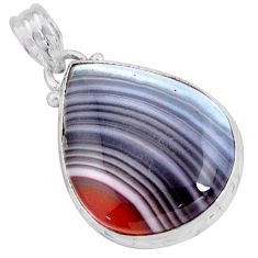 16.18cts natural honey botswana agate 925 sterling silver pendant jewelry p90456