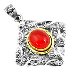 Clearance Sale- 5.60cts natural honey onyx oval shape 925 sterling silver pendant jewelry d31167