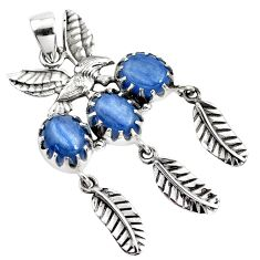 9.62cts natural kyanite 925 sterling silver dreamcatcher pendant jewelry p42167