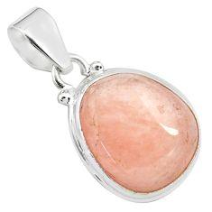 15.08cts natural orange morganite 925 sterling silver pendant jewelry p71982