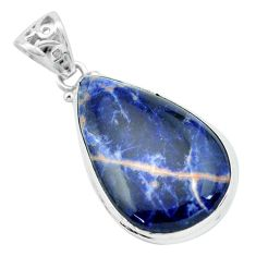 20.88cts natural orange sodalite 925 sterling silver pendant jewelry p66321