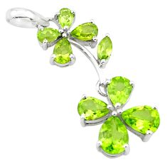 10.79cts natural peridot 925 sterling silver pendant jewelry p73752