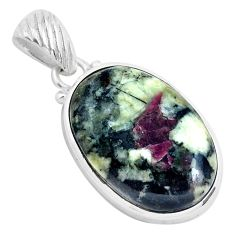 19.23cts natural pink eudialyte 925 sterling silver pendant jewelry p40861
