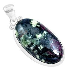 19.45cts natural pink eudialyte 925 sterling silver pendant jewelry p40864