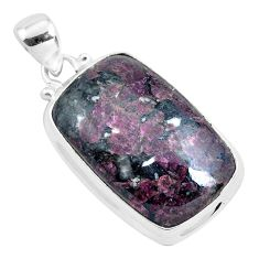 21.48cts natural pink eudialyte 925 sterling silver pendant jewelry p40877