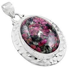 24.10cts natural pink eudialyte 925 sterling silver pendant jewelry p85032