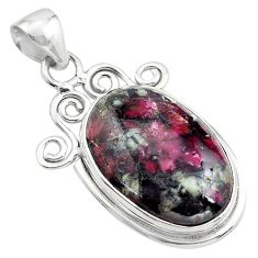 18.94cts natural pink eudialyte 925 sterling silver pendant jewelry p85035