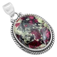 21.48cts natural pink eudialyte 925 sterling silver pendant jewelry p85575