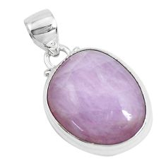 18.70cts natural pink kunzite 925 sterling silver pendant jewelry p47530