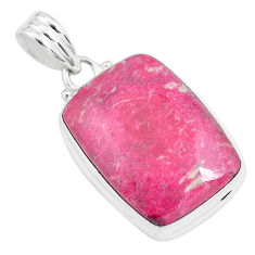 19.72cts natural pink thulite (unionite, pink zoisite) 925 silver pendant p46189