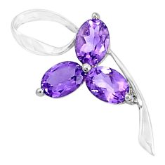 4.75cts natural purple amethyst 925 sterling silver pendant jewelry p36310