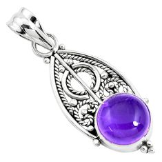 5.06cts natural purple amethyst 925 sterling silver pendant jewelry p39441