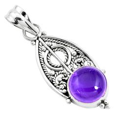 5.06cts natural purple amethyst 925 sterling silver pendant jewelry p39442