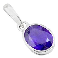2.58cts natural purple amethyst 925 sterling silver pendant jewelry p73702