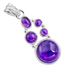 16.15cts natural purple amethyst 925 sterling silver pendant jewelry p89203