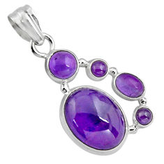 15.44cts natural purple amethyst 925 sterling silver pendant jewelry p89206