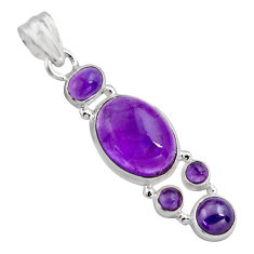 15.44cts natural purple amethyst 925 sterling silver pendant jewelry p89212